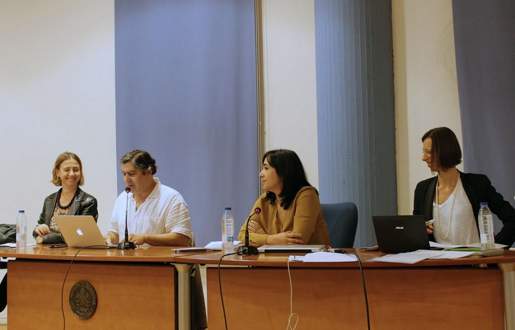Paca Pérez Carreño, Jacinto Lageira, Matilde Carrasco y Sara Matetich