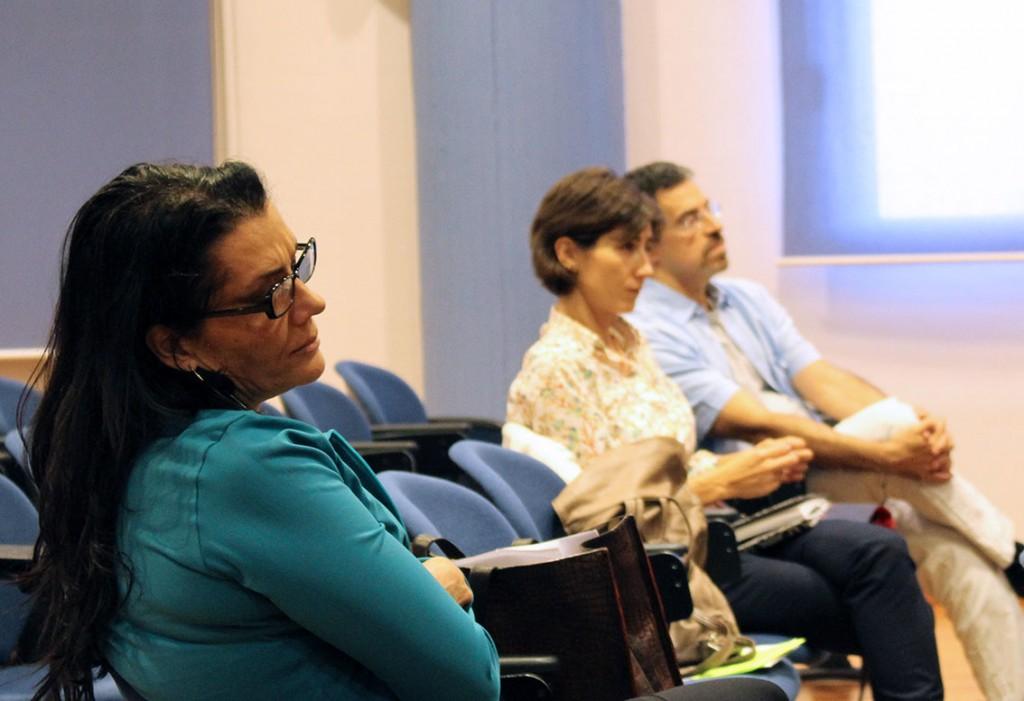 Virginia H. Aragonés, María José Alcaraz y Vítor Moura