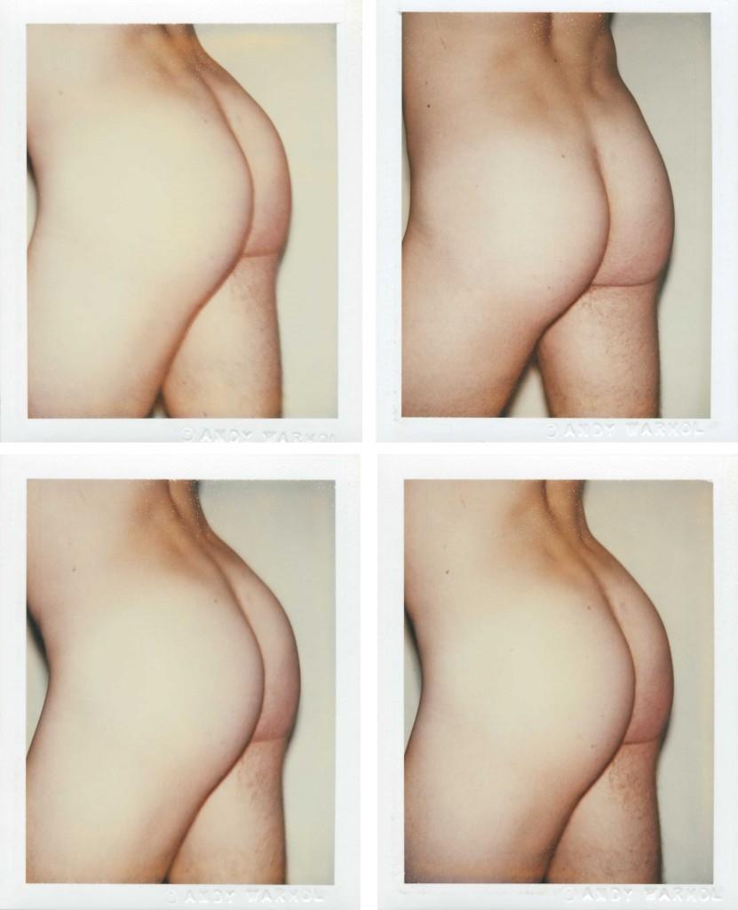 Andy Warhol, Torso, cuatro polaroids (1977).