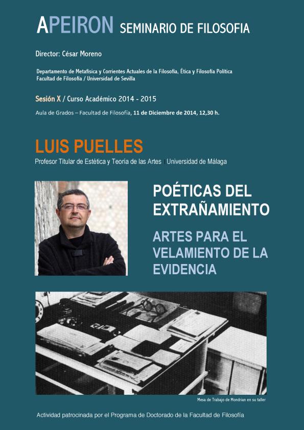 CARTEL SESION X - LUIS PUELLES