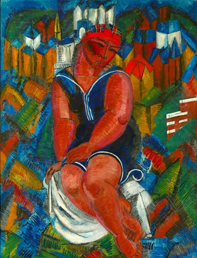 1+La+gran+bañista+[La+Grande+baigneuse]+(1914).+Ól.+s.+l.,+244,6+x+189,8+cm.+Préstamo+excepcional+de+la+Colección+GDF+SUEZ,+en+depósito+en+los+Musées+Royaux+des+Beaux-Arts,+Bruselas.